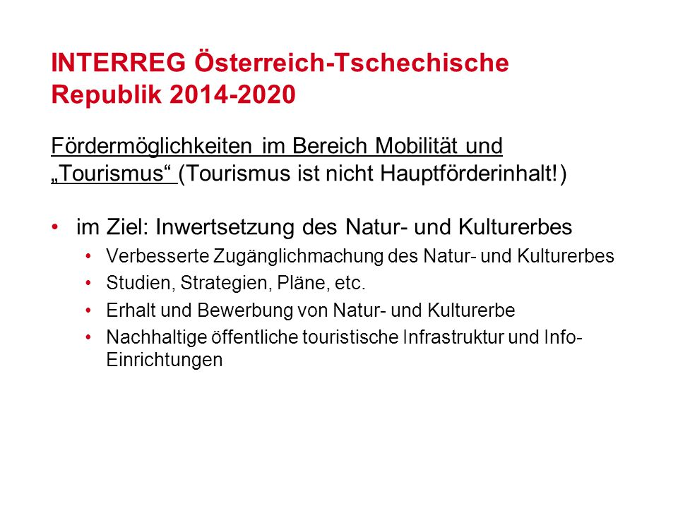 INTERREG Österreich-Tschechische Republik 2014-2020