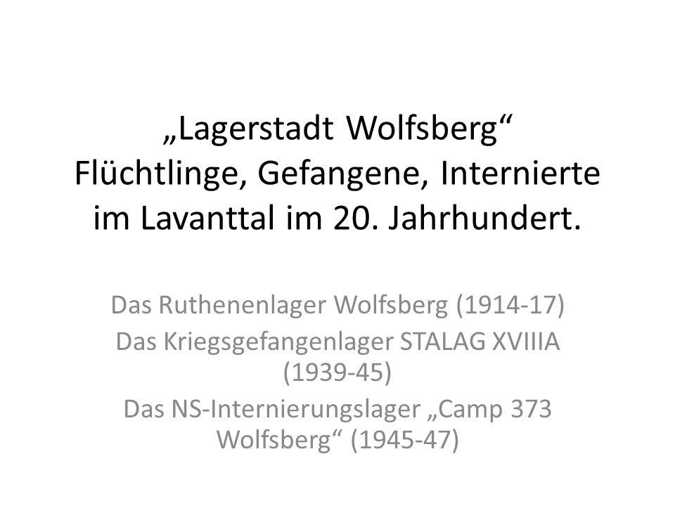 """""""Lagerstadt Wolfsberg Flüchtlinge, Gefangene, Internierte im Lavanttal im 20. Jahrhundert."""