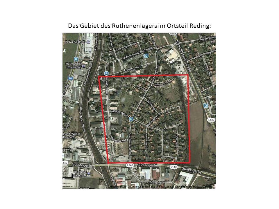 Das Gebiet des Ruthenenlagers im Ortsteil Reding: