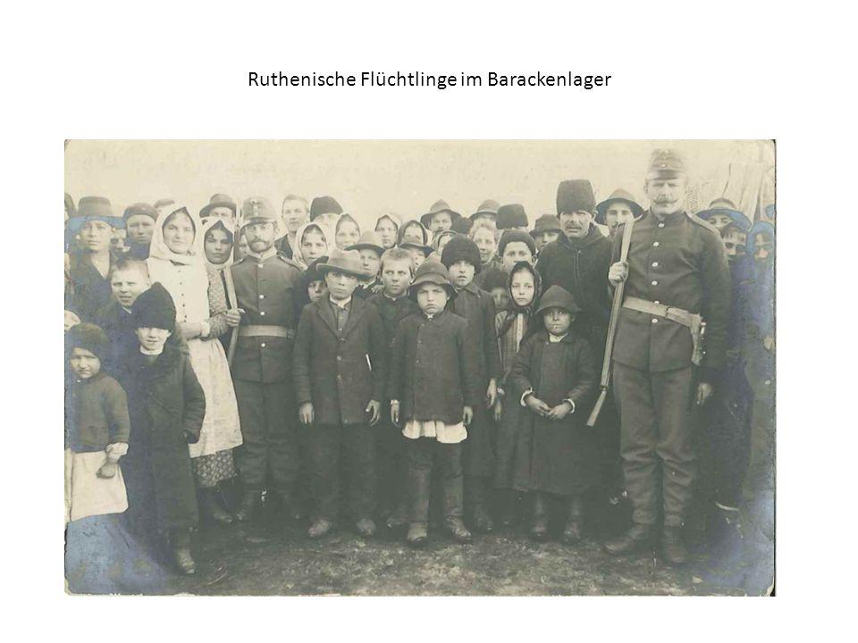 Ruthenische Flüchtlinge im Barackenlager