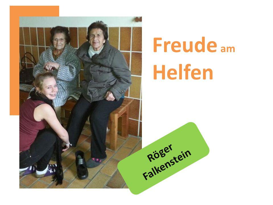 Freude am Helfen Röger Falkenstein