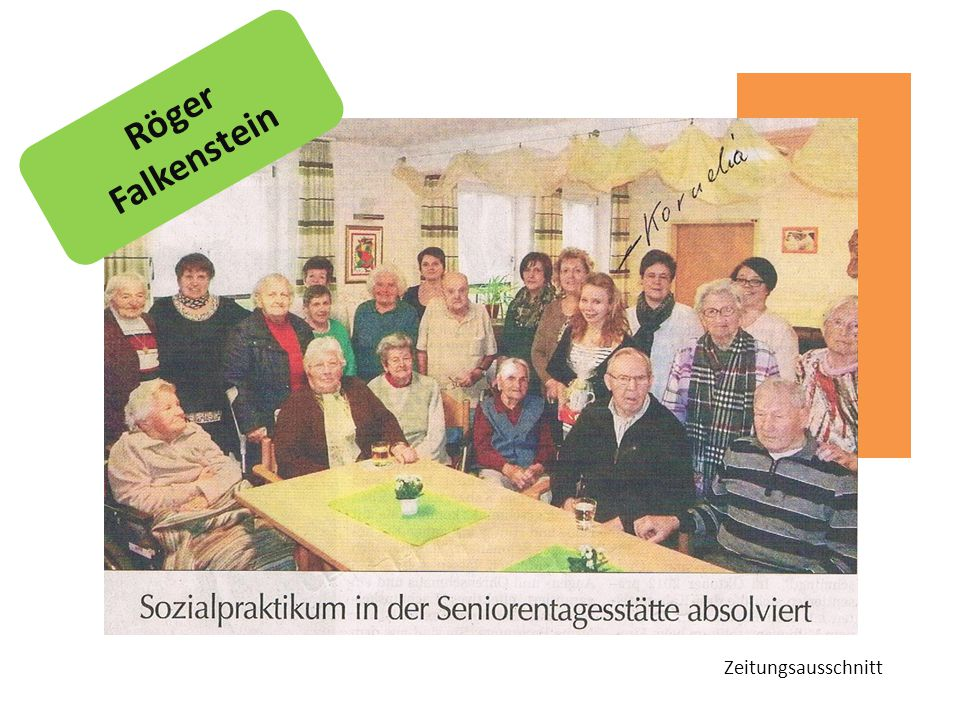 Röger Falkenstein Zeitungsausschnitt