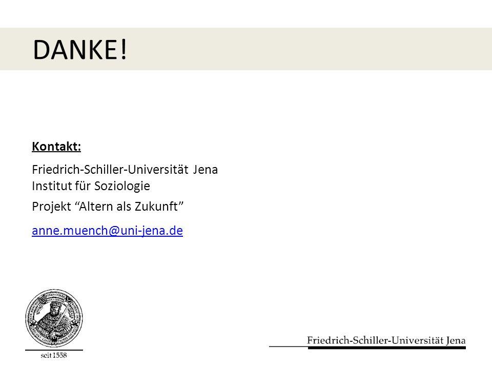 DANKE! Kontakt: Friedrich-Schiller-Universität Jena