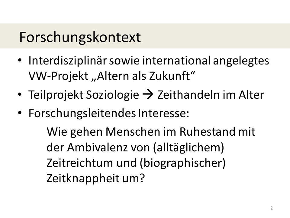 """Interdisziplinär sowie international angelegtes VW-Projekt """"Altern als Zukunft"""