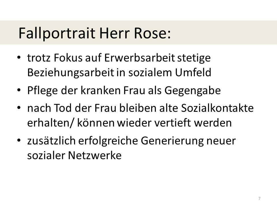 Fallportrait Herr Rose: