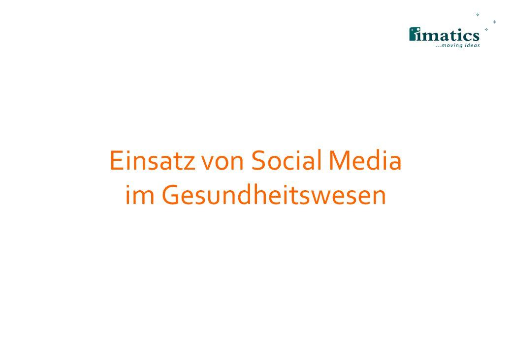 Einsatz von Social Media im Gesundheitswesen