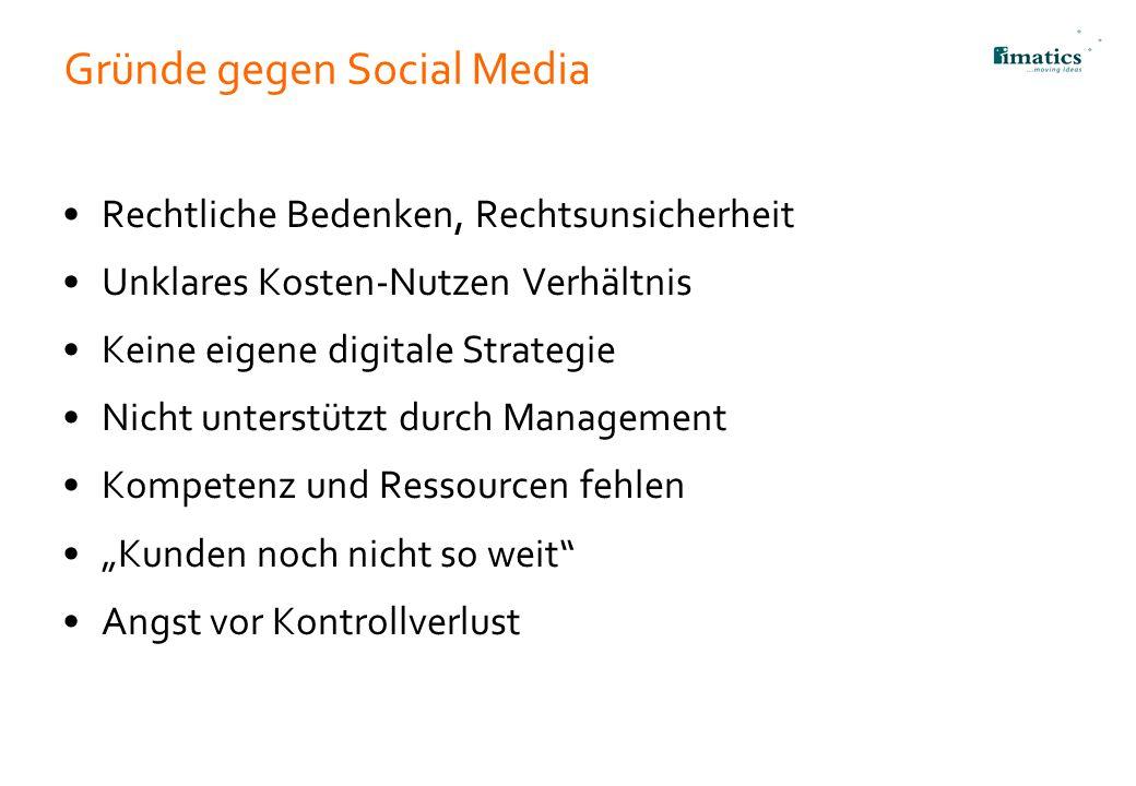 Gründe gegen Social Media