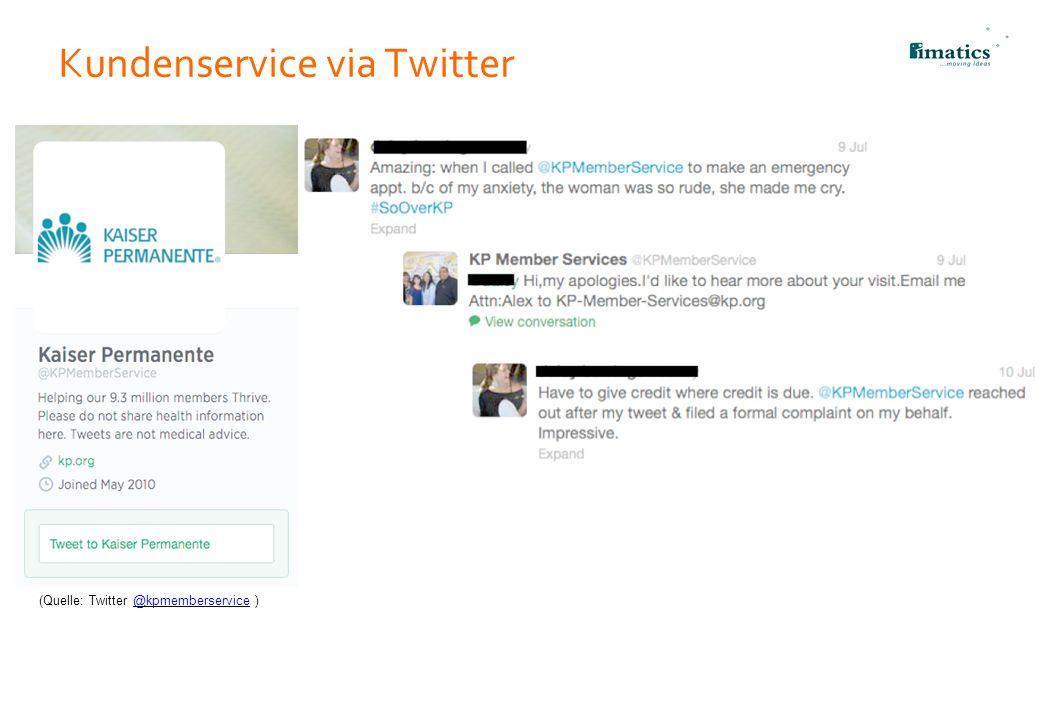Kundenservice via Twitter
