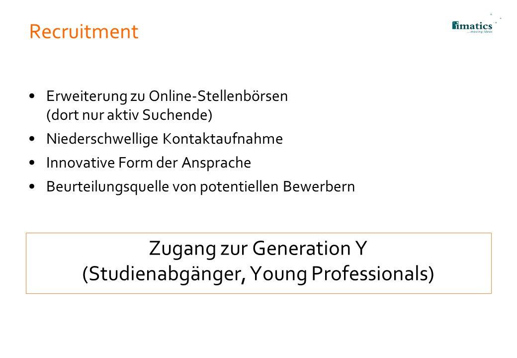 Zugang zur Generation Y (Studienabgänger, Young Professionals)