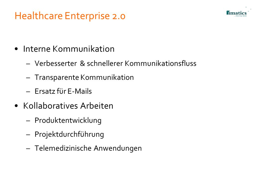 Healthcare Enterprise 2.0