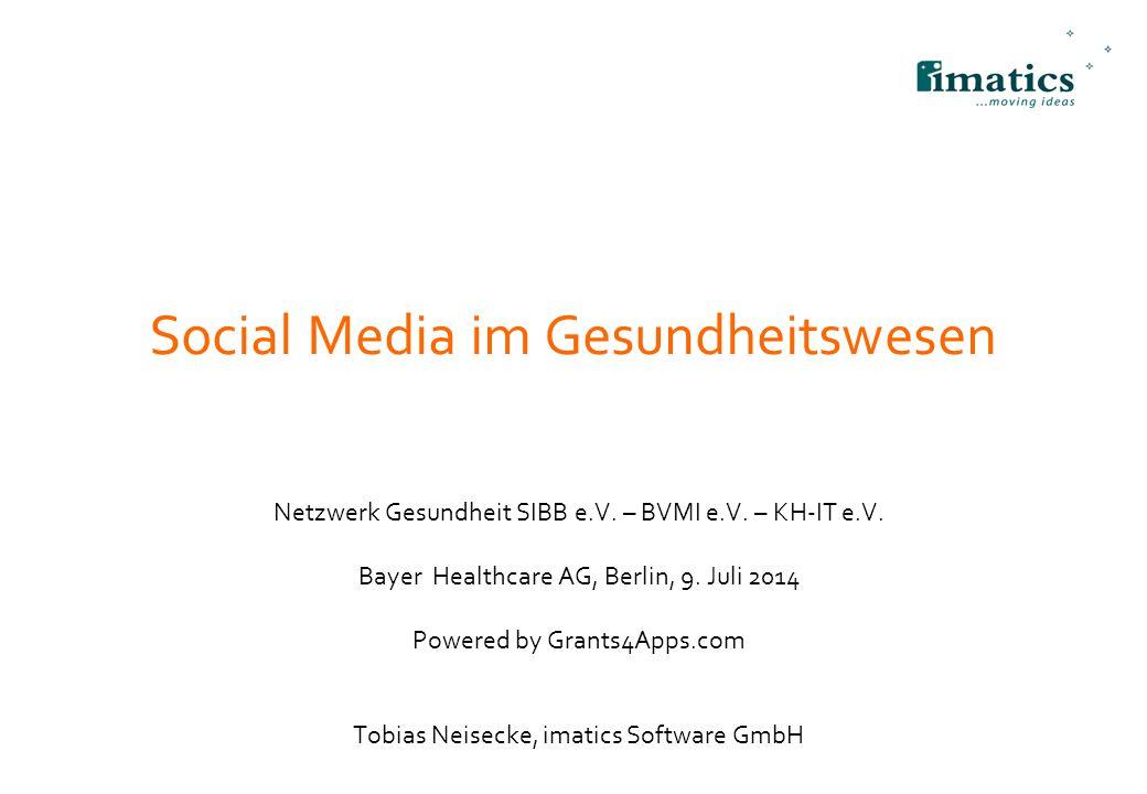 Social Media im Gesundheitswesen