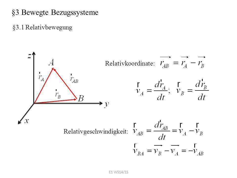 §3 Bewegte Bezugssysteme