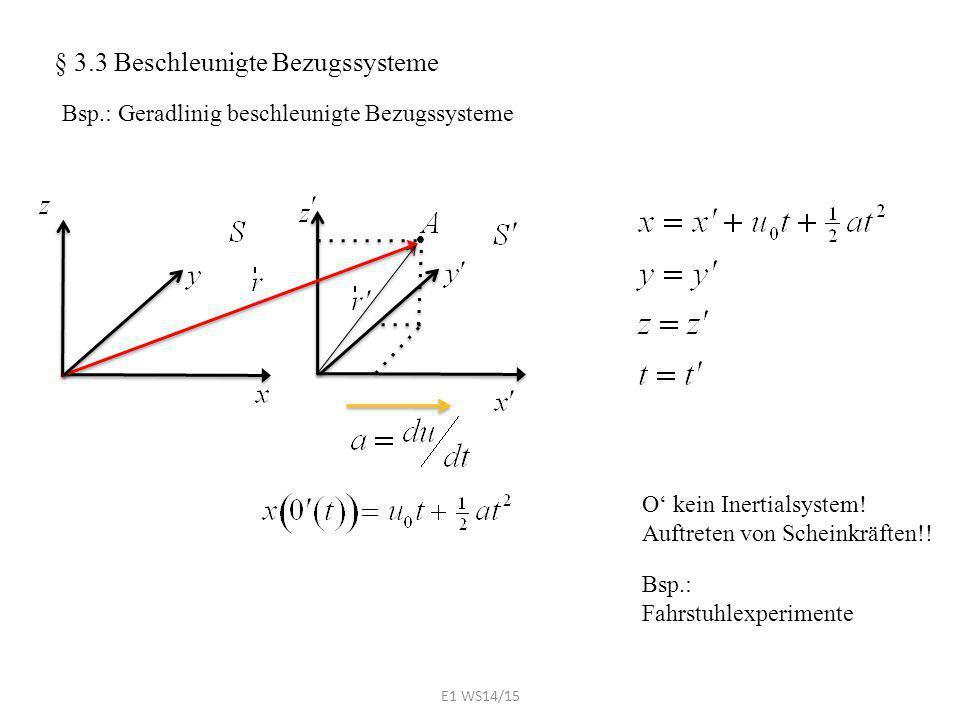 § 3.3 Beschleunigte Bezugssysteme