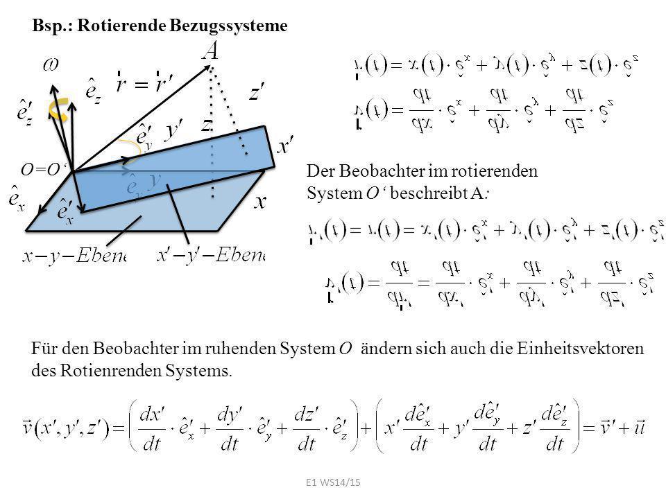 Bsp.: Rotierende Bezugssysteme