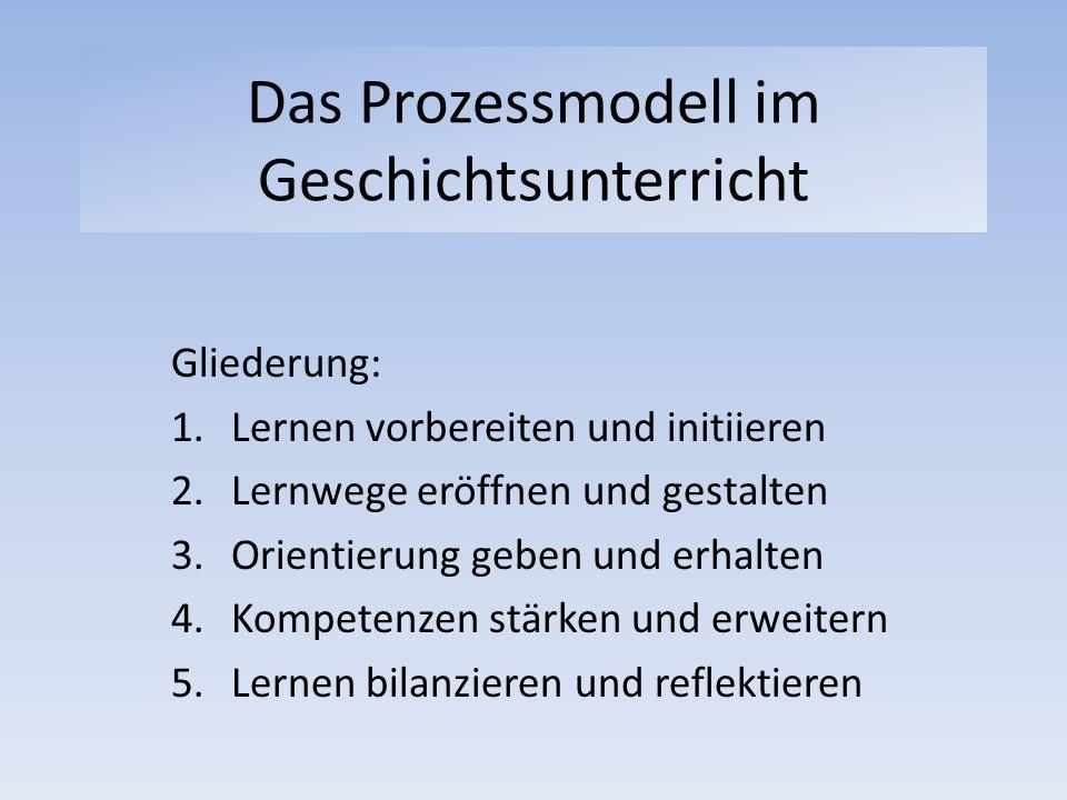 Das Prozessmodell im Geschichtsunterricht