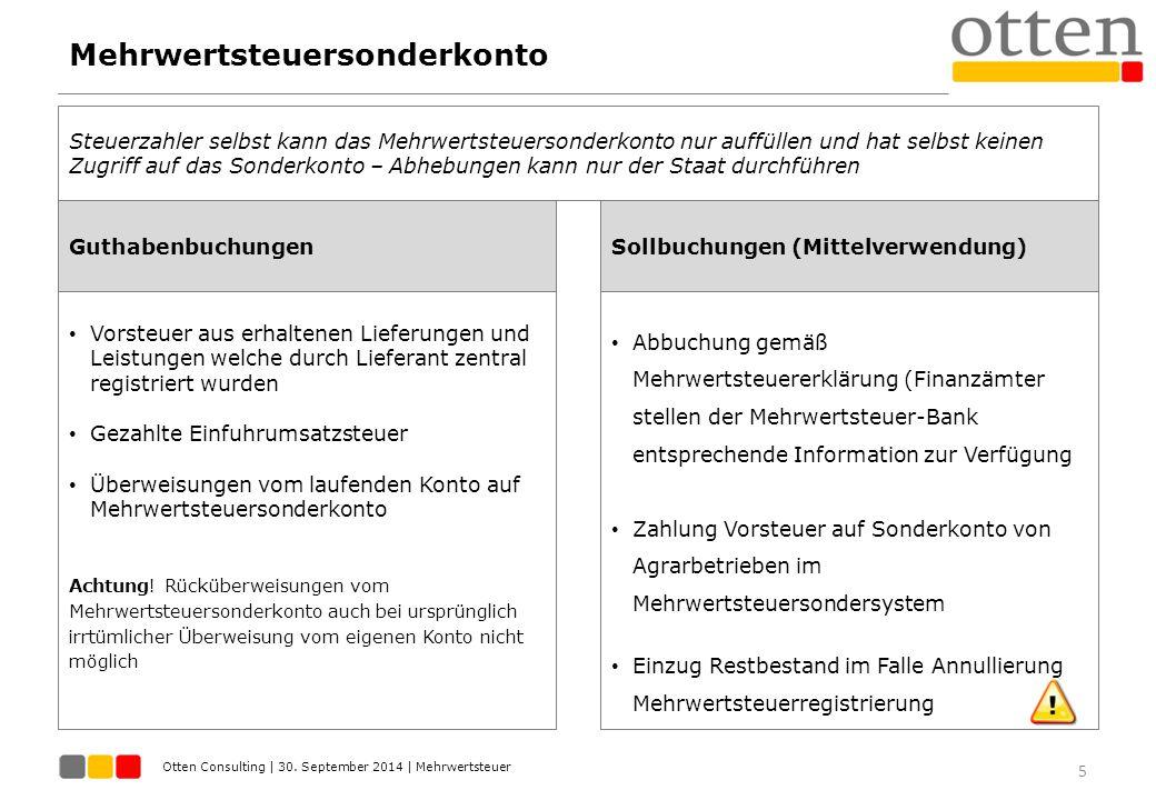 Mehrwertsteuersonderkonto