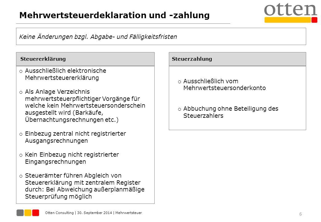 Mehrwertsteuerdeklaration und -zahlung