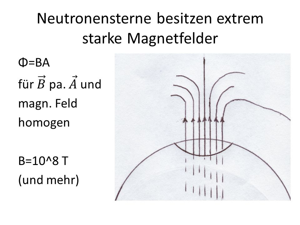 Neutronensterne besitzen extrem starke Magnetfelder