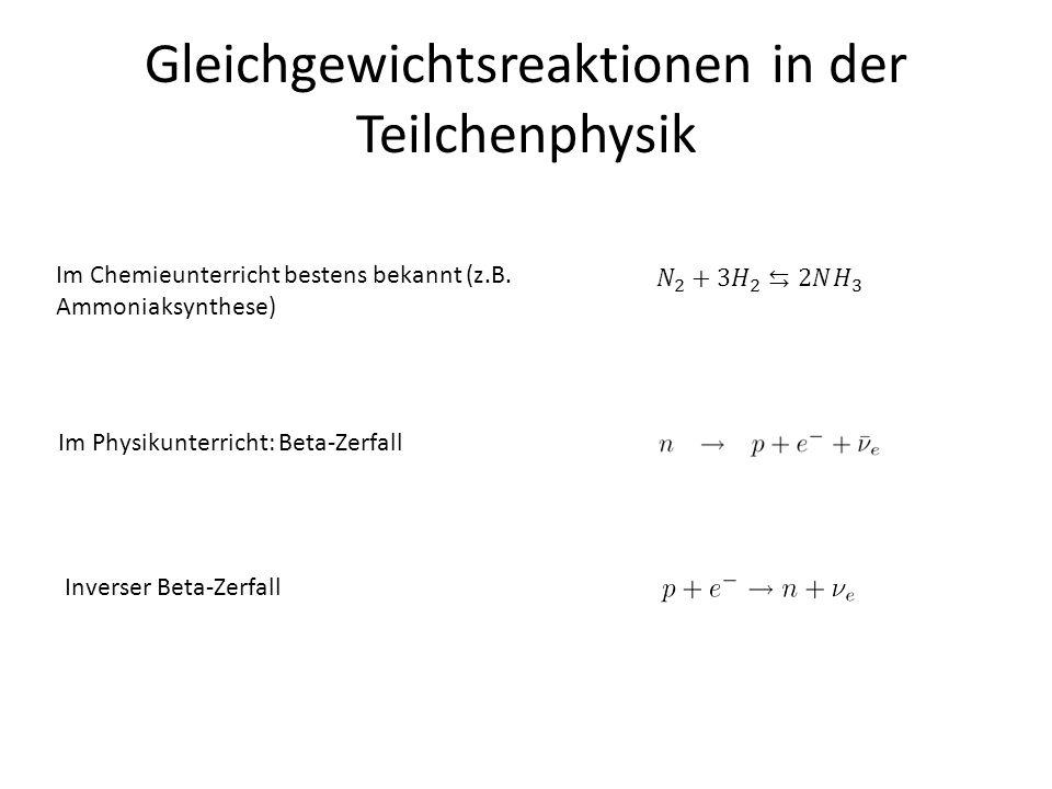 Gleichgewichtsreaktionen in der Teilchenphysik