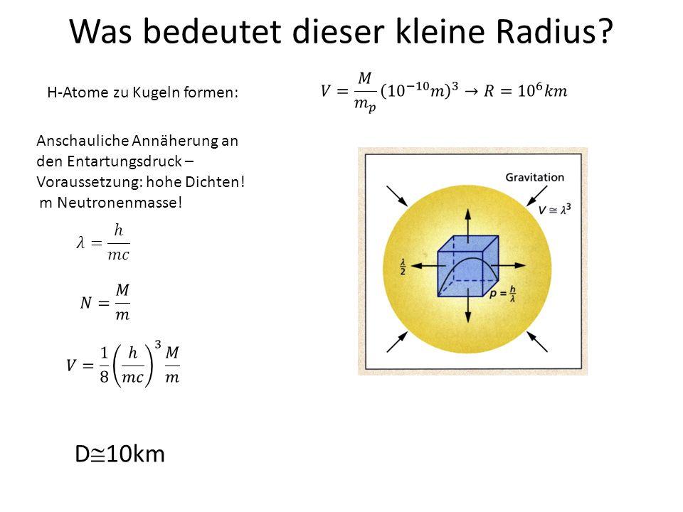 Was bedeutet dieser kleine Radius