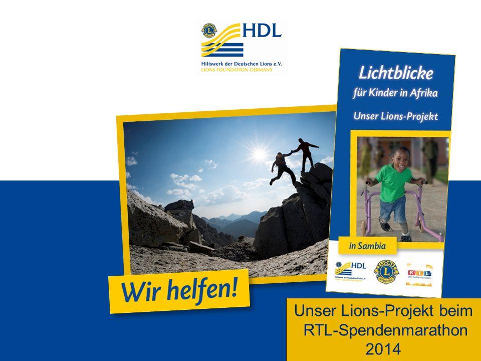 Unser Lions-Projekt beim RTL-Spendenmarathon 2014