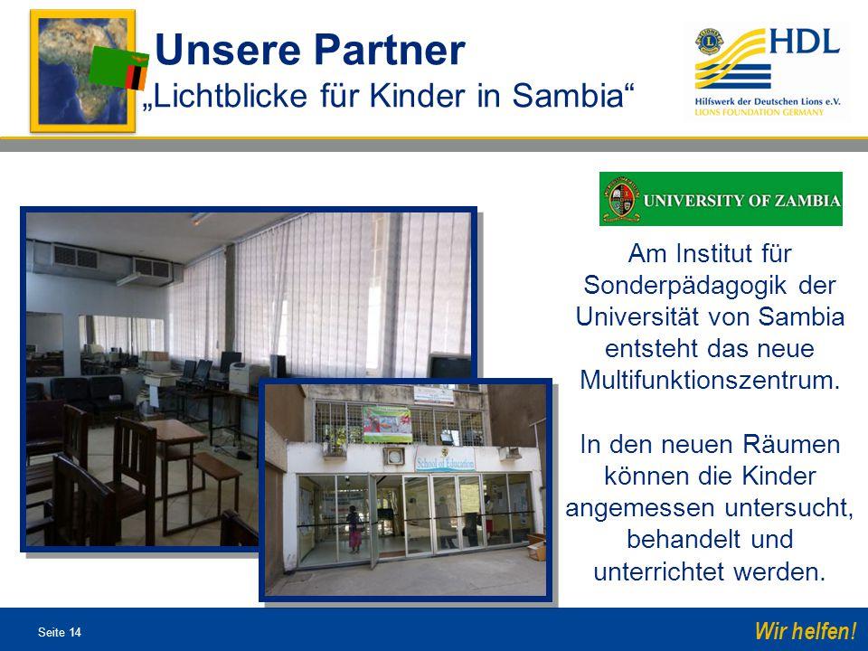 """Unsere Partner """"Lichtblicke für Kinder in Sambia"""