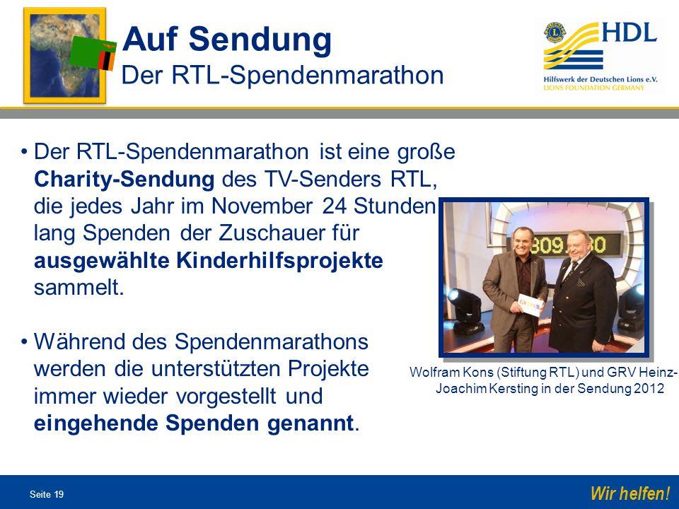 Auf Sendung Der RTL-Spendenmarathon