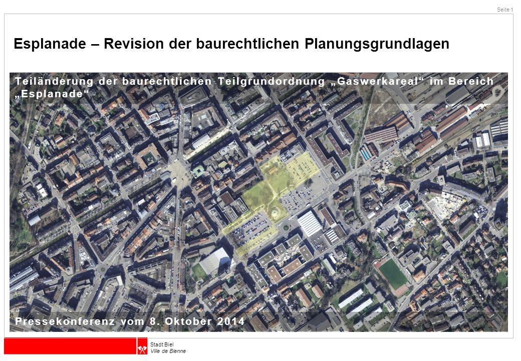 Esplanade – Revision der baurechtlichen Planungsgrundlagen