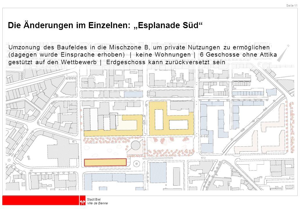 """Die Änderungen im Einzelnen: """"Esplanade Süd"""