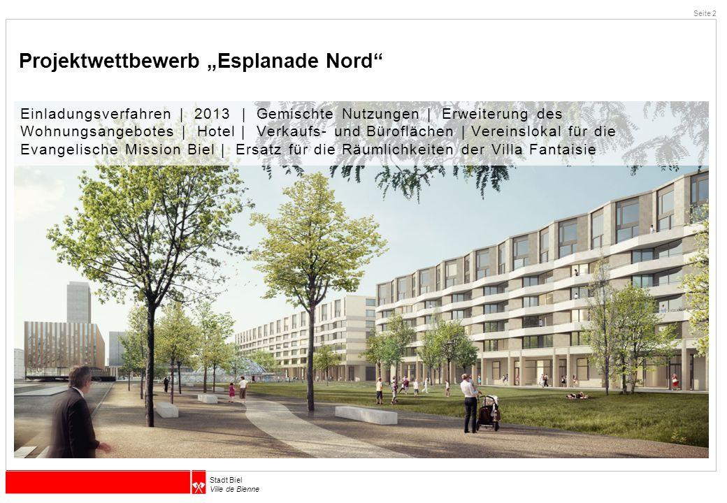 """Projektwettbewerb """"Esplanade Nord"""