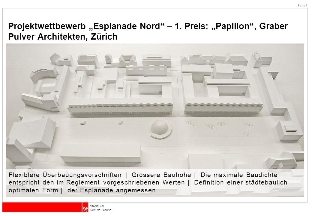 """Projektwettbewerb """"Esplanade Nord – 1"""