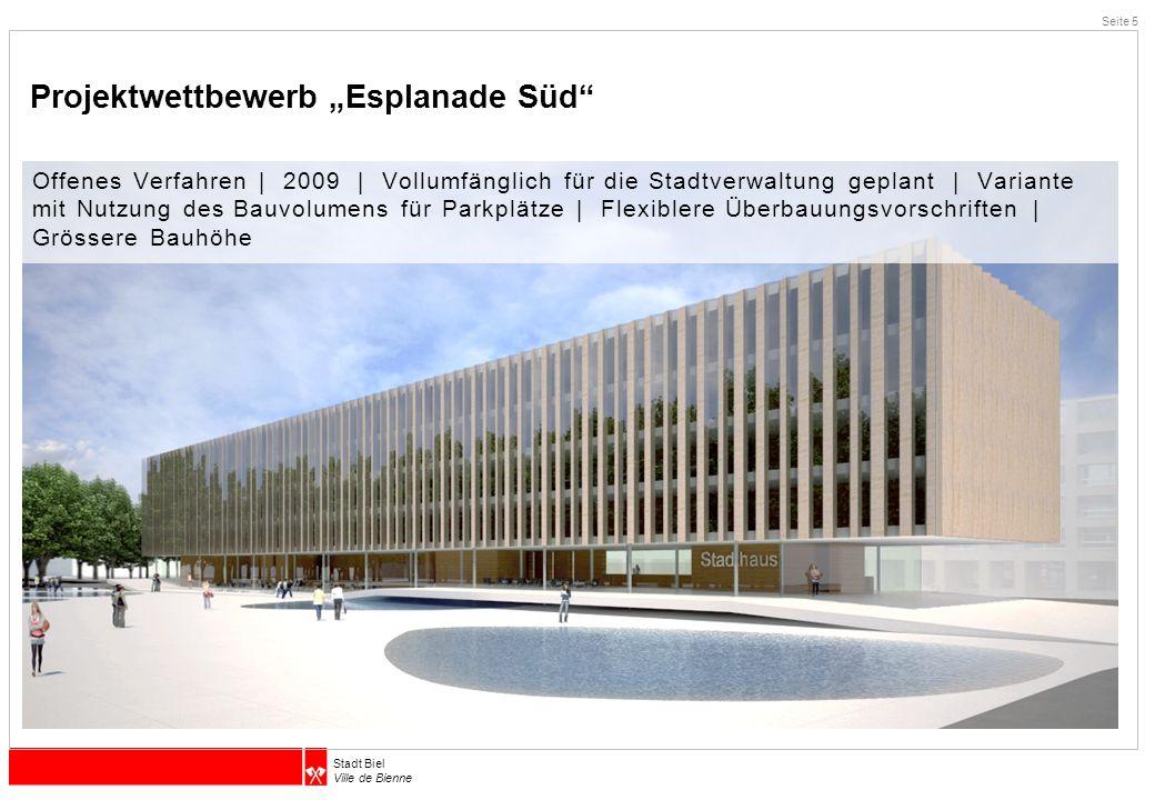 """Projektwettbewerb """"Esplanade Süd"""
