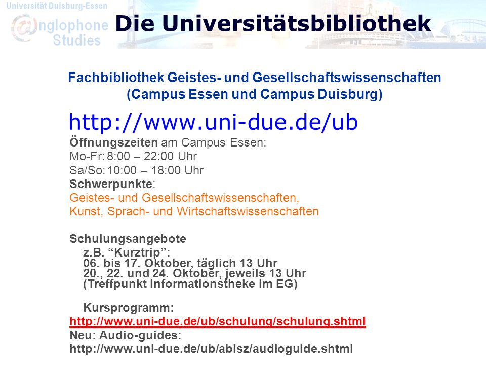 Die Universitätsbibliothek