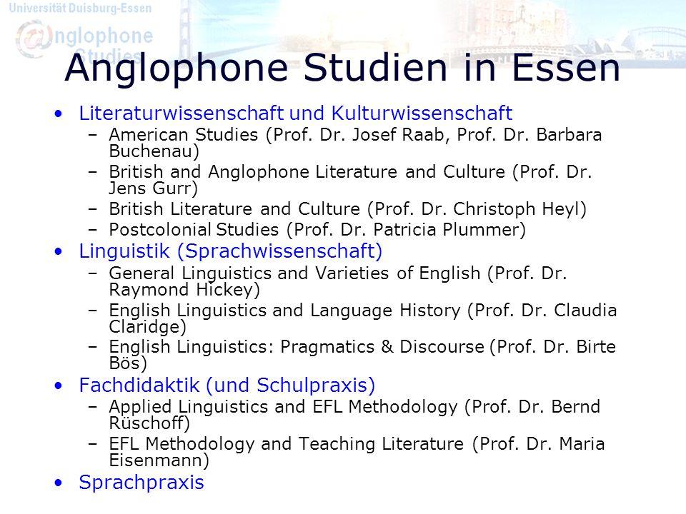 Anglophone Studien in Essen