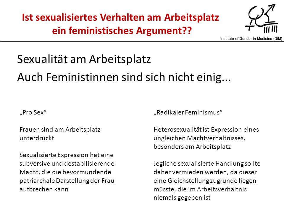 Sexualität am Arbeitsplatz Auch Feministinnen sind sich nicht einig...