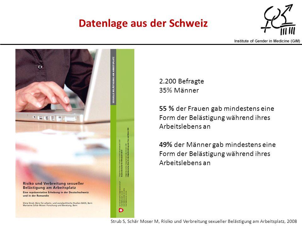 Datenlage aus der Schweiz