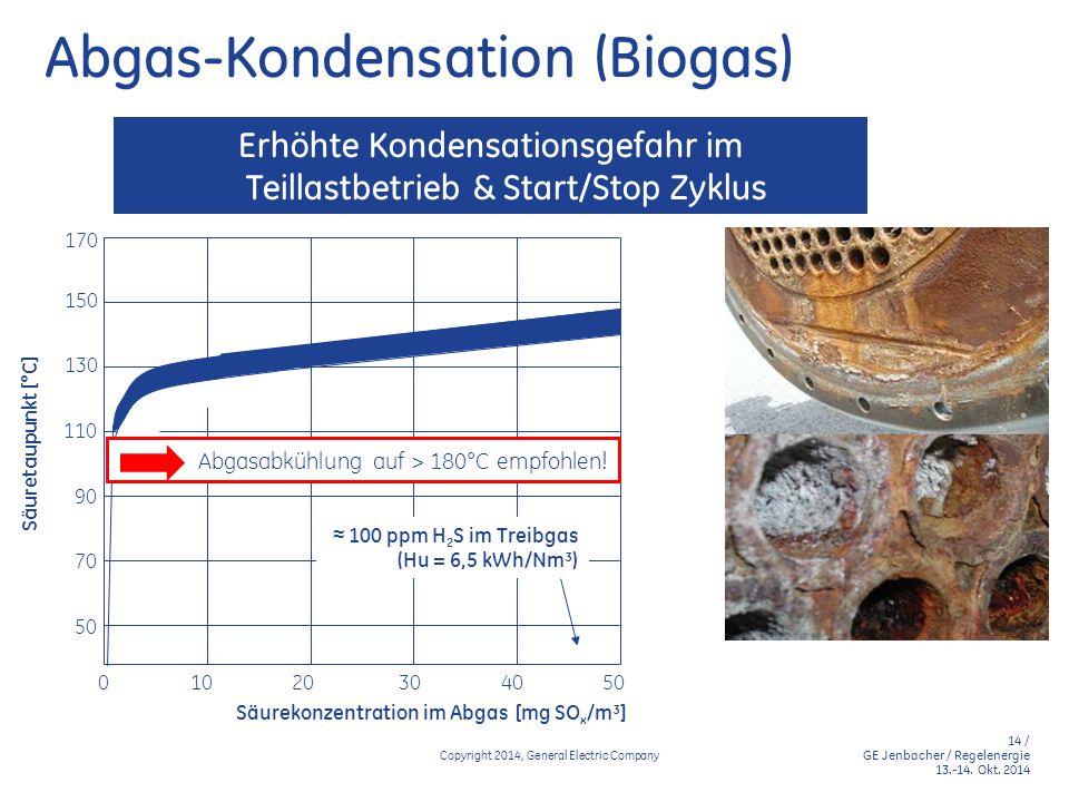 Abgas-Kondensation (Biogas)
