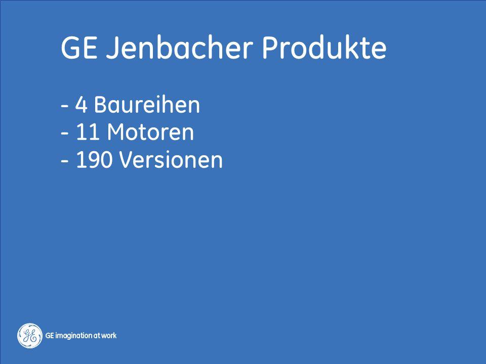 GE Jenbacher Produkte - 4 Baureihen - 11 Motoren - 190 Versionen