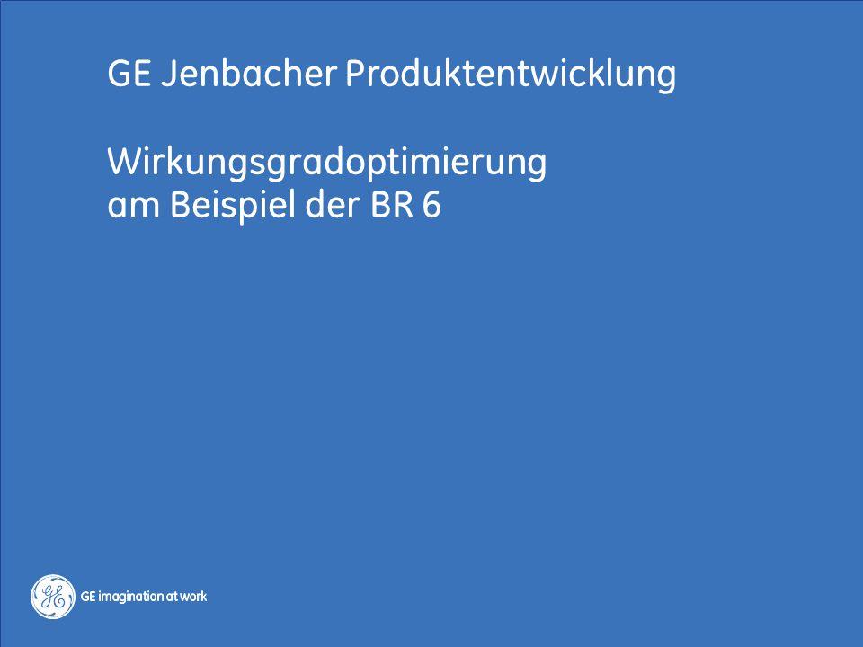 GE Jenbacher Produktentwicklung Wirkungsgradoptimierung am Beispiel der BR 6