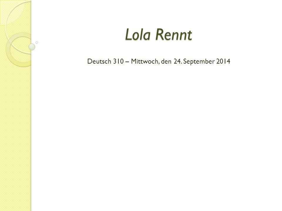 Deutsch 310 – Mittwoch, den 24. September 2014