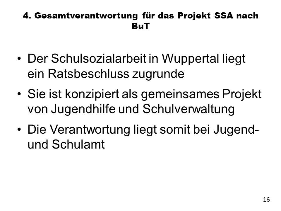 4. Gesamtverantwortung für das Projekt SSA nach BuT