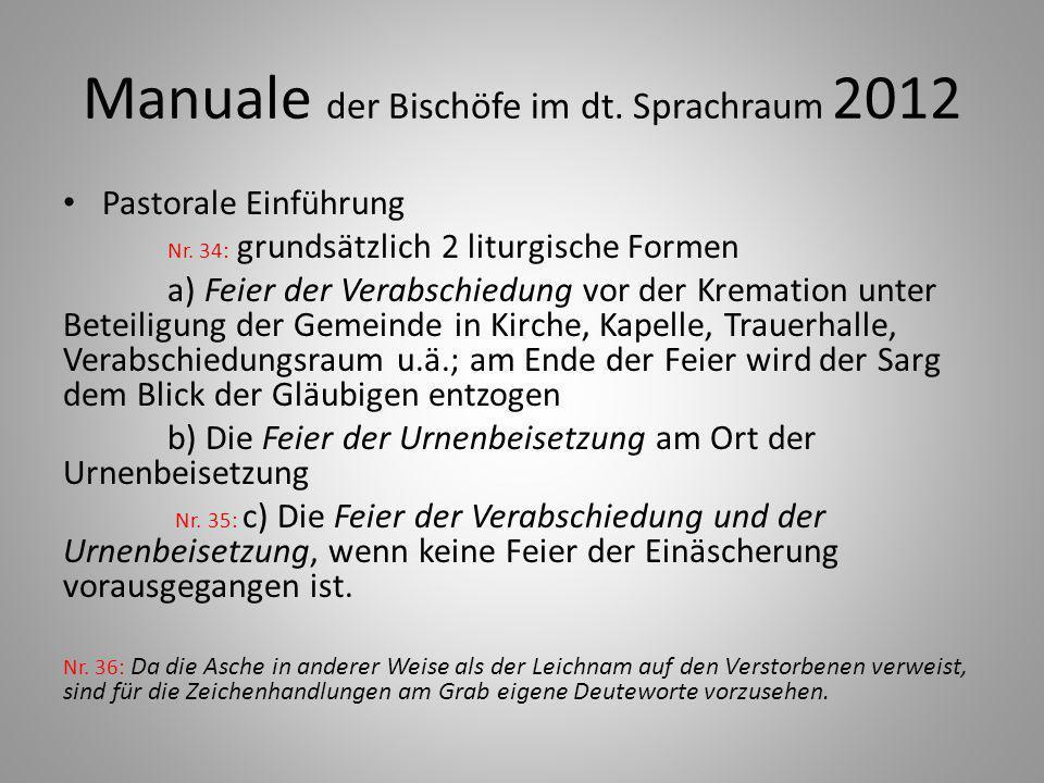 Manuale der Bischöfe im dt. Sprachraum 2012