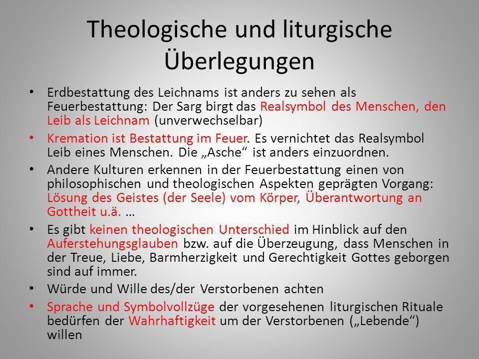 Theologische und liturgische Überlegungen
