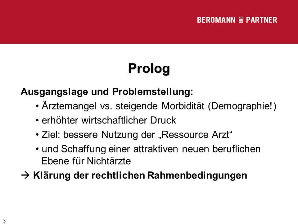 Prolog Ausgangslage und Problemstellung: