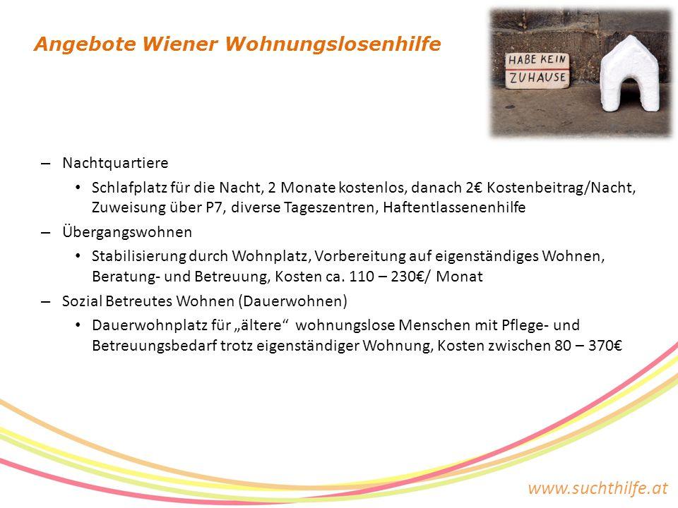 Angebote Wiener Wohnungslosenhilfe