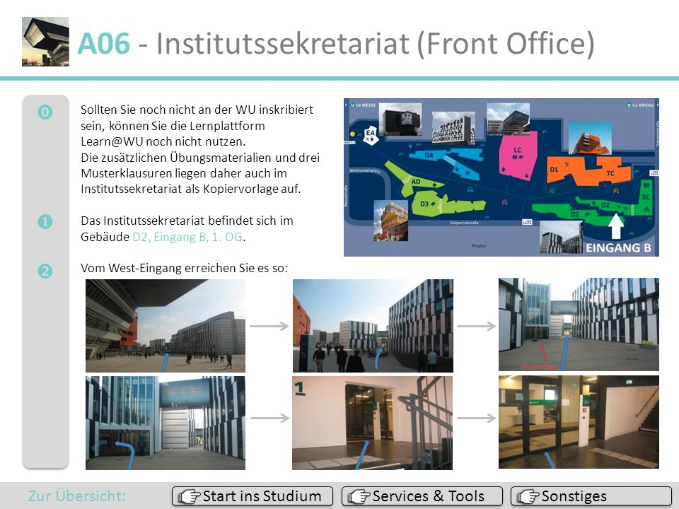 A06 - Institutssekretariat (Front Office)