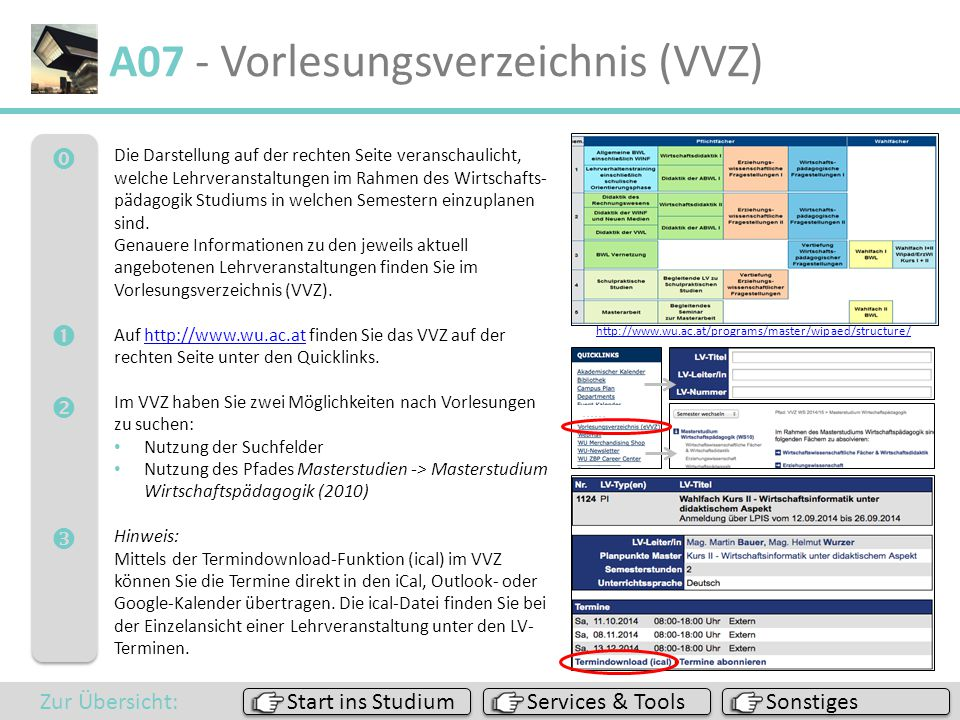 A07 - Vorlesungsverzeichnis (VVZ)