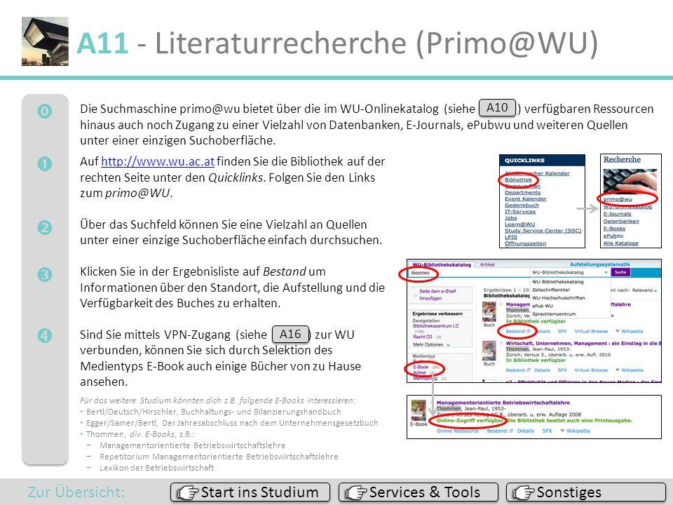 A11 - Literaturrecherche (Primo@WU)