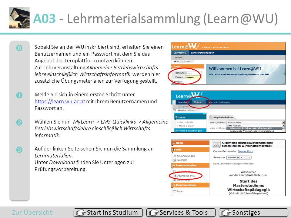 A03 - Lehrmaterialsammlung (Learn@WU)