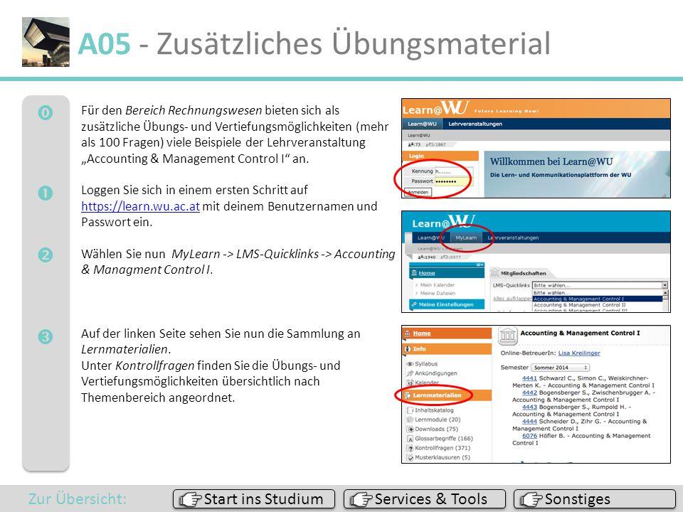 A05 - Zusätzliches Übungsmaterial
